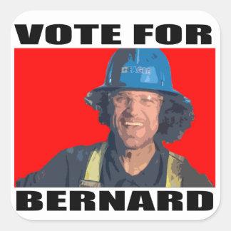 Voto para Bernard Pegatina Cuadrada