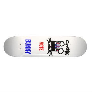 Voto para el conejito tabla de skate