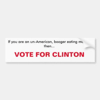 voto para la pegatina para el parachoques de