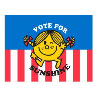 Voto para la sol postal