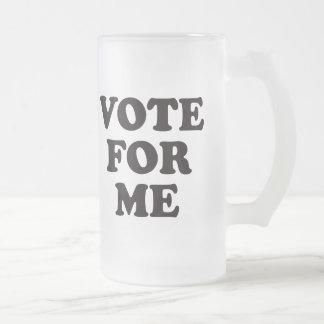 ¡Voto para mí! Taza De Cristal