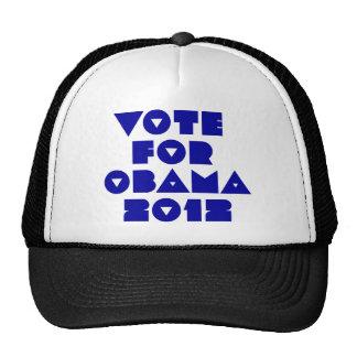 voto para obama 2012 gorro de camionero
