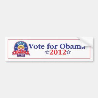 Voto para Obama 2012 Pegatina Para Coche
