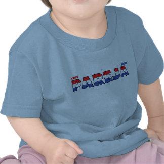 Voto Pareja 2010 elecciones blanco y azul rojos Camisetas