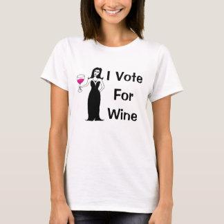 Voto por el vino camiseta