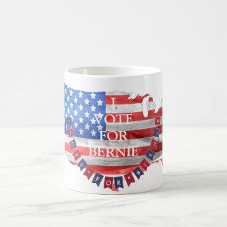 Voto por la bandera americana de Demócrata de las Taza De Café