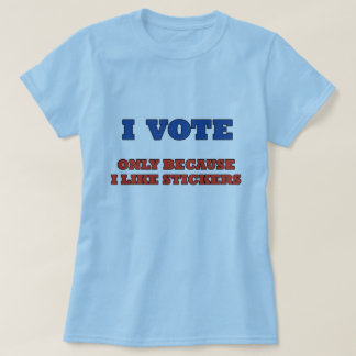 Voto por la camiseta de las mujeres de las