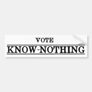 Voto Saber-Nada Pegatina Para Coche