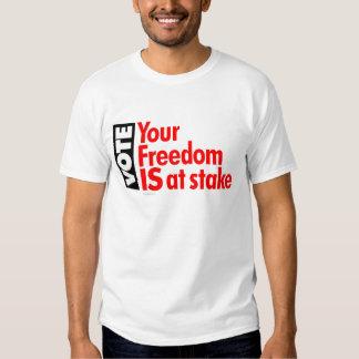 Voto: Su libertad ESTÁ en juego Camisetas
