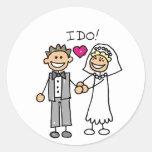 Votos del intercambio de novia y del novio pegatina