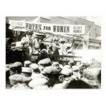 Votos para las mujeres, agosto de 1908 postal