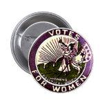 Votos para las mujeres - botón pins