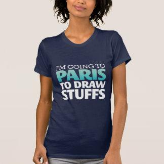 Voy a la camiseta divertida de París
