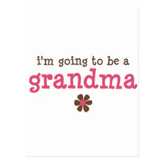 Voy a ser una camiseta de la abuela tarjetas postales
