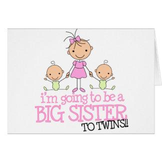 Voy a ser una hermana grande a los GEMELOS Tarjeta