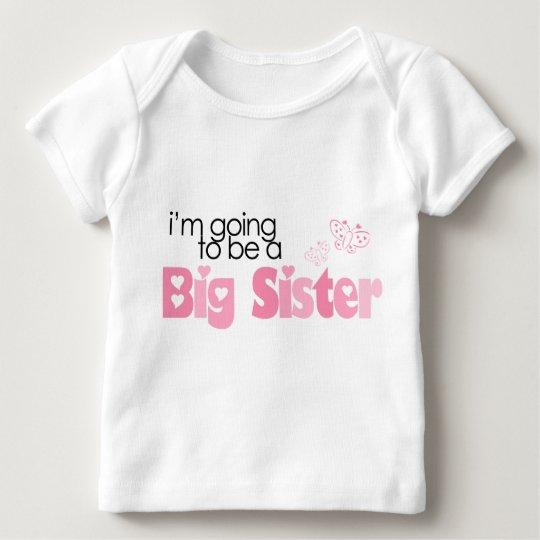 """""""Voy a ser una hermana grande """" Camiseta De Bebé"""