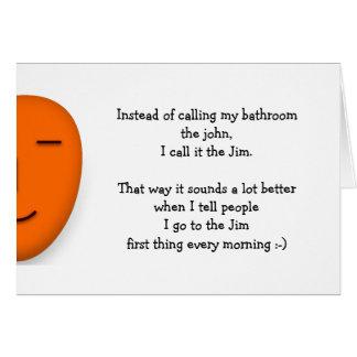 Voy al Jim que la cita divertida del chiste envía Tarjeta
