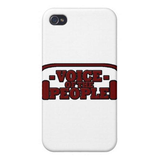 Voz de la gente iPhone 4 carcasas