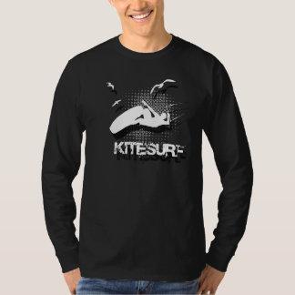 Vuele como los pájaros, camisa fresca del kitesurf
