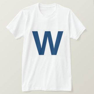 Vuele el W, la camiseta de los hombres del béisbol