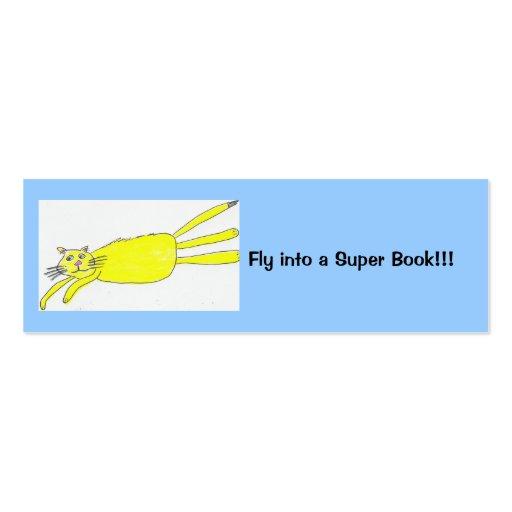 ¡Vuele en un libro estupendo!!! Plantilla De Tarjeta De Visita