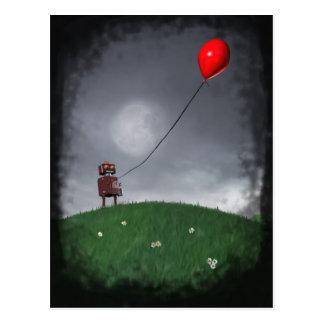 Vuele su pequeña postal roja de Baloon