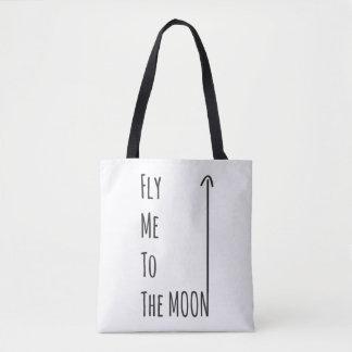 Vuéleme a la luna - el bolso libre del empollón bolsa de tela