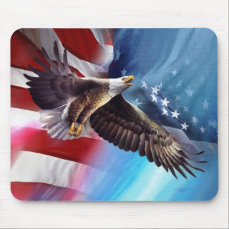 vuelo americano del águila alfombrilla de ratón