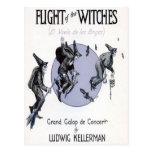 Vuelo de las brujas tarjeta postal