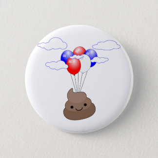 Vuelo de Poo Emoji con los globos Chapa Redonda De 5 Cm