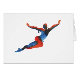 Vuelo del bailarín de ballet tarjeta