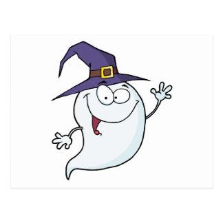Vuelo del fantasma de Halloween Postal