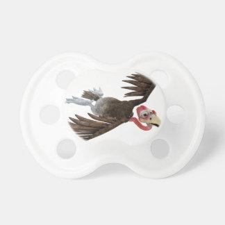 Vuelo del halcón del dibujo animado visto desde chupetes de bebe