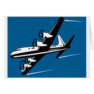 vuelo del vuelo de los aviones del aeroplano del a tarjeta de felicitación