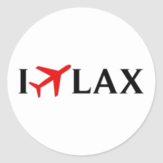 Vuelo el aeropuerto internacional de LAX - de Los Pegatinas