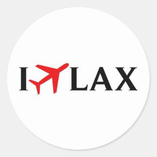 Vuelo el aeropuerto internacional de LAX - de Los Etiqueta Redonda