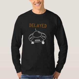 Vuelo retrasado por blanco del UFO Camiseta