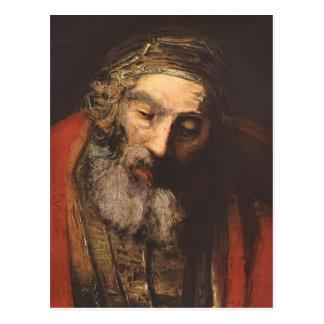 Vuelta de Rembrandt del hijo despilfarrador Postal