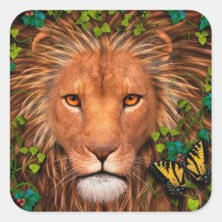 Vuelta del rey Stickers Pegatina Cuadradas