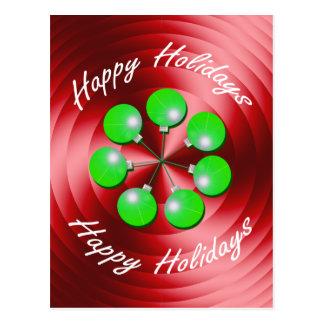 Vuelta moderna del día de fiesta del navidad tarjeta postal