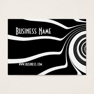Vuelta negra y blanca de la tarjeta del perfil del