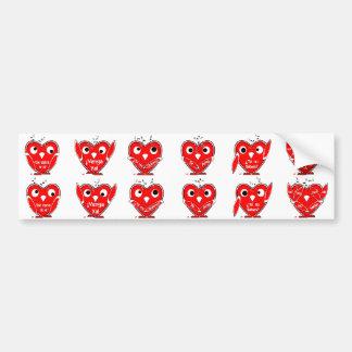 VUVA el Corazón Valiente - San Valentín Pegatina De Parachoque