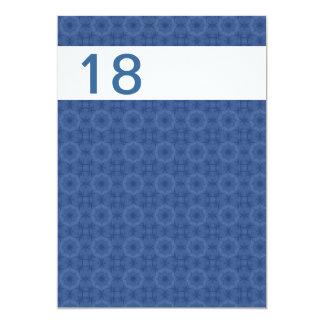 W1087 geométrico azul y blanco de la fiesta de invitación 12,7 x 17,8 cm