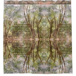 W. cortina de ducha del bosque de Etiopía con la