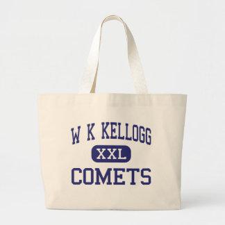 W K Kellogg - cometas - joven - Battle Creek Bolsa Tela Grande