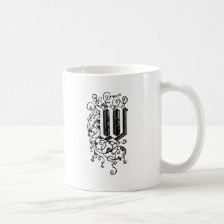 W - La letra W - inicial Taza De Café