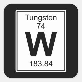 W - Tungsteno Pegatina Cuadrada