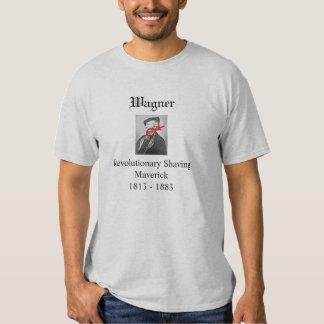 Wagner divertido que afeita la camiseta