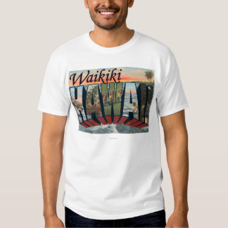 Waikiki, Hawaii - escenas grandes de la letra Camisetas