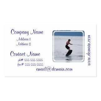 Wakeboarder fresco tarjetas personales
